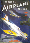 Model Airplane News Cover for April, 1936 by Jo Kotula Hawker Hurricane