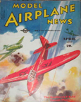 Model Airplane News Cover for April, 1937 by Jo Kotula Koolhoven FK-55 Experimental Fighter