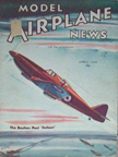 Model Airplane News Cover for April, 1941 by Jo Kotula Boulton-Paul Defiant (Daffy)