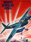 Model Airplane News Cover for April, 1943 by Jo Kotula deHaviland Mosquito