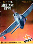 Model Airplane News Cover for April, 1947 by Jo Kotula Curtiss SC-1 Seahawk