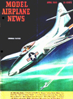 Model Airplane News Cover for April, 1948 by Jo Kotula Grumman Panther