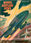 Model Airplane News Cover for April, 1950 by Jo Kotula Martin XB-51