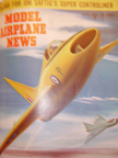 Model Airplane News Cover for April, 1951 by Jo Kotula Boulton-Paul P.111  Delta
