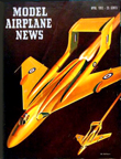 Model Airplane News Cover for April, 1952 by Jo Kotula de Havilland DH.110 Sea Vixen