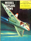 Model Airplane News Cover for April, 1954 by Jo Kotula Douglas F4D Skyray