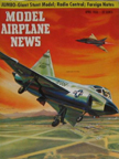 Model Airplane News Cover for April, 1956 by Jo Kotula Convair F-102 Delta Dagger