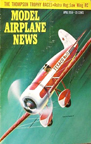 Model Airplane News Cover for April, 1958 by Jo Kotula Travelair Texaco No. 13