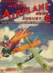 Model Airplane News Cover for August, 1933 by Jo Kotula Boeing F4B4 (P12)