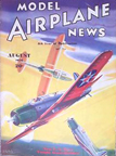 Model Airplane News Cover for August, 1936 by Jo Kotula Curtiss SB2C Helldiver