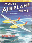 Model Airplane News Cover for August,1938 by Jo Kotula Seversky Transoceanic Clipper