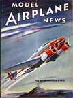 Model Airplane News Cover for August, 1939 by Jo Kotula Savoia-Marchetti S79E