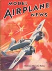 Model Airplane News Cover for August, 1940 by Jo Kotula Grumman XF5F Skyrocket