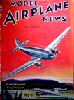 Model Airplane News Cover for August, 1941 by Jo Kotula Curtiss-Wright CW-20/C-46 Commando