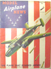 Model Airplane News Cover for August, 1942 by Jo Kotula North American B-25 Mitchell
