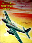 Model Airplane News Cover for August, 1943 by Jo Kotula Messerschmitt Bf110 Eisenseiten