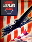 Model Airplane News Cover for August, 1944 by Jo Kotula Boeing B-17 Flying Fortress