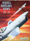 Model Airplane News Cover for August, 1945 by Jo Kotula Bell XP-77