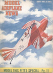 Model Airplane News Cover for august, 1950 by Jo Kotula Pitts Special S-1 Little Stinker