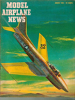 Model Airplane News Cover for August, 1951 by Jo Kotula North American F-86 Sabre