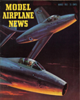 Model Airplane News Cover for August, 1952 by Jo Kotula Dassault Mysterre