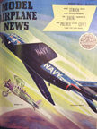 Model Airplane News Cover for August, 1954 by Jo Kotula McDonnell F3H Demon and Boeing F4B4 (P12)