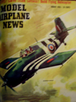 Model Airplane News Cover for August 1955 by Jo Kotula Grumman F4f Wildcat