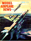 Model Airplane News Cover for August 1956 by Jo Kotula  North American F-100 Super-Sabre