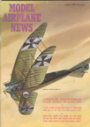 Model Airplane News Cover for August, 1963 by Jo Kotula Deutsche Flugzeugwerke B-1 Flying Banana