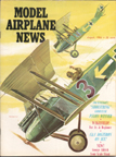 Model Airplane News Cover for August, 1966 by Jo Kotula Rumpler C. V.