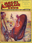 Model Airplane News Cover for December, 1931 by Jo Kotula Balloon Busting