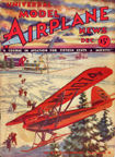 Model Airplane News Cover for December, 1932 by Jo Kotula Heath Parasol
