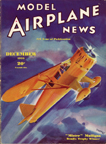 Model Airplane News Cover for December, 1935 by Jo Kotula Howard DGA-6 Mister Mulligan