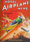 Model Airplane News Cover for December, 1936 by Jo Kotula Vought V-143 Pursuit