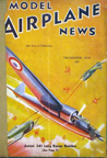 Model Airplane News Cover for December, 1938 by Jo Kotula Amlot 341 Long Range Bombe