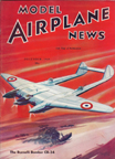 Model Airplane News Cover for December, 1939 by Jo Kotula Burnelli C-34 (A-1) Bomber