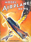 Model Airplane News Cover for December, 1940 by Jo Kotula Grumman G36 A