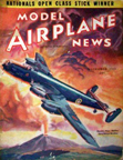 Model Airplane News Cover for December, 1941 by Jo Kotula Handley-Page HP.57 Halifax