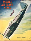 Model Airplane News  Cover for December 1944 by Jo  Kotula  Republic P-47 Thunderbolt