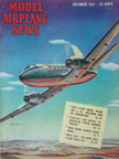 Model Airplane News Cover for December, 1947 by Jo Kotula Martin 2-0-2 Executive