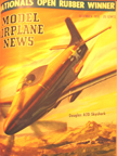 Model Airplane News Cover for December, 1950 by Jo Kotula Douglas A2D Skyshark