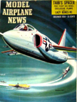 Model Airplane News Cover for December, 1954 by Jo Kotula Grumman F11F Tiger