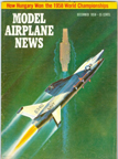 Model Airplane News Cover for December, 1958 by Jo Kotula Vought XF8U-3 Crusader III