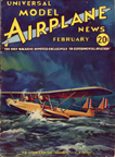 Model Airplane News Cover for February, 1934 by Jo Kotula Consolidated P1Y1 Admiral Flying Boat