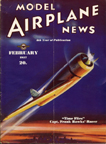Model Airplane News Cover for February, 1937 by Jo Kotula Hawks-Miller HM-1 Time Flies