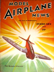 Model Airplane News Cover for February, 1938 by Jo Kotula Heinkel He 112