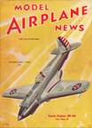 Model Airplane News Cover for February, 1939 by Jo Kotula Curtiss XP-42