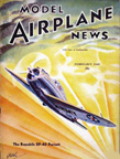 Model Airplane News Cover for February, 1940 by Jo Kotula Republic XP-40 (Actually, XP-41)