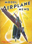 Model Airplane News Cover for February, 1941 by Jo Kotula Republic (Seversky) P-35 Guardsman
