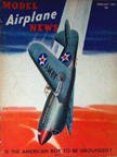 Model Airplane News Cover for February, 1942 by Jo Kotula Curtiss P-40